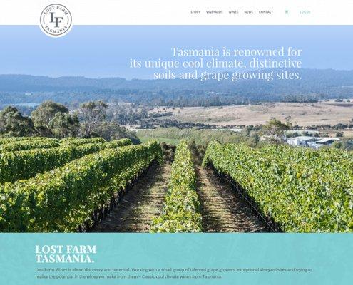 Lost Farm Website Screen Shot