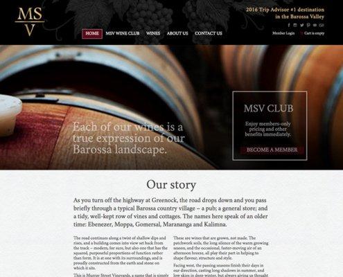 MSV Winery Website Screenshot