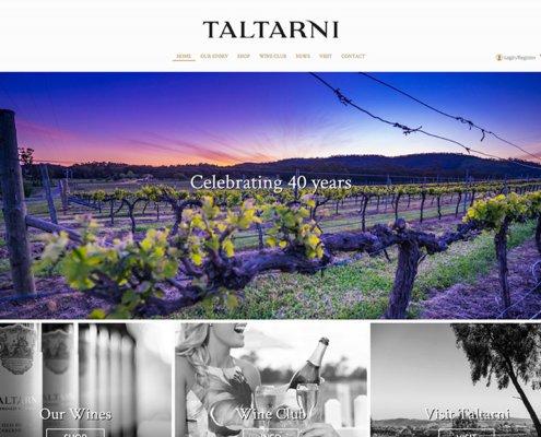 Taltarini Winery Website Screen Shot