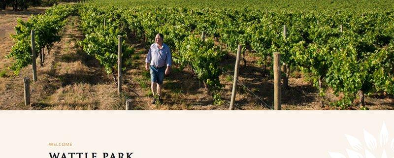 Wattle Park Winery Website Screenshot