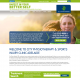 "Predominately green and dark blue website with lots of bright, white space. The site heading says ""Invest in your better self"" and is adjacent to the City Physiotherapy logo which is a green 2D hand with a small person cut into it."